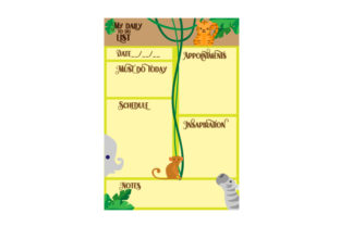 Jungle Animal Themed A5 to Do List Planner Craft Cut File By Creative Fabrica Crafts