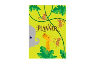 Jungle Animal Themed A5 Planner Planner Craft Cut File By Creative Fabrica Crafts