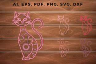 Print on Demand: 3d MultiLayer Halloween Cat Svg CutFile Graphic 3D SVG By NGISED