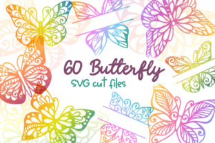 Print on Demand: 60 Butterfly SVG Cut Files - Simple & Sp Graphic Crafts By tatiana.cociorva