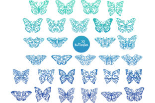 Print on Demand: 60 Butterfly SVG Cut Files Graphic Crafts By tatiana.cociorva 3