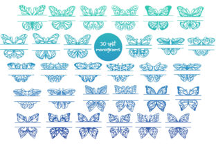 Print on Demand: 60 Butterfly SVG Cut Files Graphic Crafts By tatiana.cociorva 2