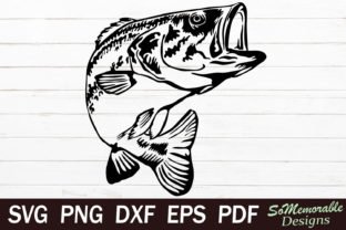 Print on Demand: Bass Fish Graphic Graphic Templates By SoMemorableDesigns