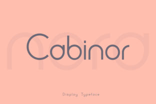 Print on Demand: Cabinor Display Font By eafonts
