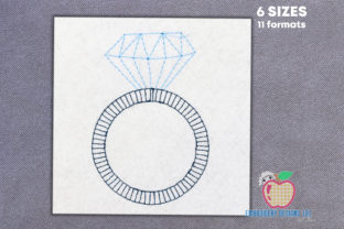 Diamond Wedding Ring Wedding Designs Embroidery Design By embroiderydesigns101