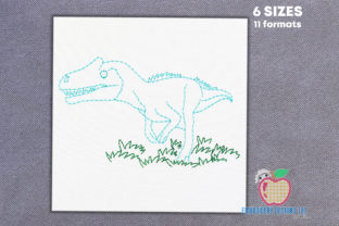 Dinosaur in the Forest Dinosaurs Embroidery Design By embroiderydesigns101