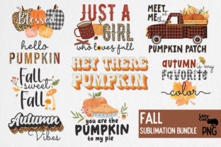 Fall Sublimation Bundle Graphic Print Templates By Lazy Cat
