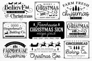 Farmhouse Christmas Sign SVG Mega Pack Graphic Crafts By CraftlabSVG