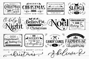 Farmhouse Christmas Sign SVG Mega Pack Graphic Crafts By CraftlabSVG 2
