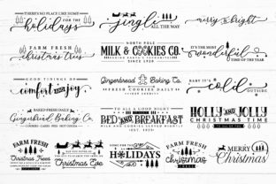 Farmhouse Christmas Sign SVG Mega Pack Graphic Crafts By CraftlabSVG 3