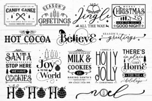 Farmhouse Christmas Sign SVG Mega Pack Graphic Crafts By CraftlabSVG 4