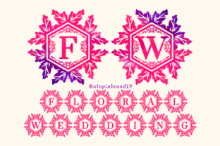 Print on Demand: Floral Wedding Decorative Font By utopiabrand19