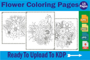 Flower Coloring Book Pages for Adults Graphic Coloring Pages & Books By mdrakibul1n1a