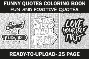 Funny Quotes Coloring Book Graphic Coloring Pages & Books Adults By mi632883