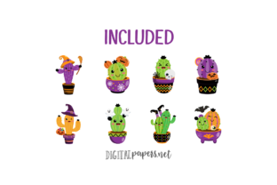 Print on Demand: Halloween Spooky Cactus Graphic Illustrations By DigitalPapers 2