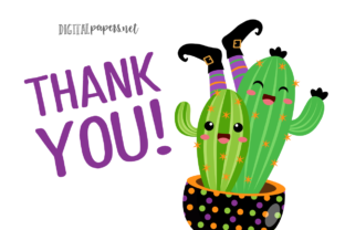Print on Demand: Halloween Spooky Cactus Graphic Illustrations By DigitalPapers 3