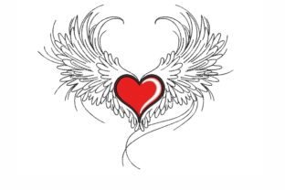Heart with Wings Valentine's Day Embroidery Design By LizaEmbroidery