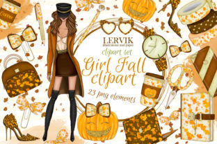 Print on Demand: Hello Fall CLIPART Autumn Clipart Graphic Illustrations By LerVik