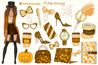 Print on Demand: Hello Fall CLIPART Autumn Clipart Graphic Illustrations By LerVik 2