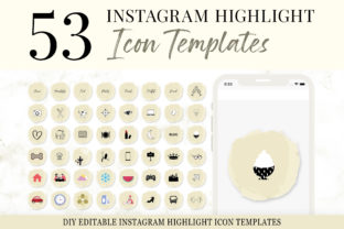 Print on Demand: Instagram Highlight Icon Template Graphic Presentation Templates By SnapyBiz