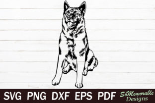 Print on Demand: Norwegian Elkhound Graphic Graphic Templates By SoMemorableDesigns