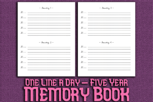 Print on Demand: One Line a Day Five Years Memory Book Graphic KDP Interiors By Mary's Designs