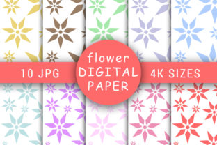 Pastel Color Daisy Flower Digital Papers Graphic Patterns By Foilcey
