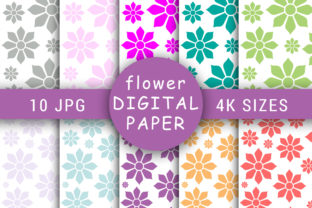 Pastel Color Floral Digital Papers Graphic Patterns By Foilcey