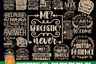 Print on Demand: Sarcastic Quotes SVG, Sassy Svg Cut File Graphic Crafts By TonisArtStudio