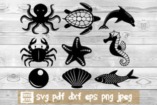 Print on Demand: Sea Creatures Svg, Sea Svg Graphic Crafts By Craft Box 1