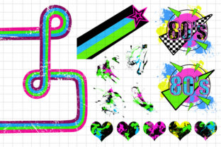 Totally 80's Arcade Action Clip Art Set Graphic Illustrations By Dapper Dudell 3
