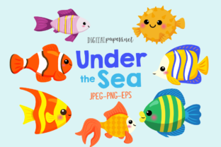 Print on Demand: Under the Sea Fish Graphic Illustrations By DigitalPapers