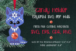 Print on Demand: Wolf Christmas Ornament Candy Holder SVG Graphic 3D Christmas By Olga Belova