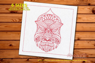 Zentangle Patterned Gorilla Face Zentangle Embroidery Design By Redwork101