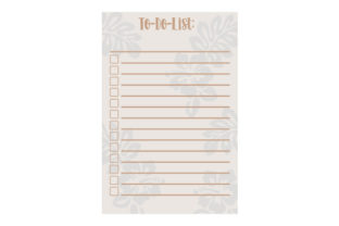 Tropical Flower Themed A5 to Do List Planner Craft Cut File By Creative Fabrica Crafts