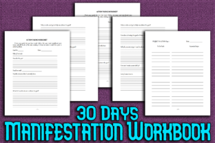 Print on Demand: 30 Days Personal Manifestation Workbook Graphic KDP Interiors By Mary's Designs