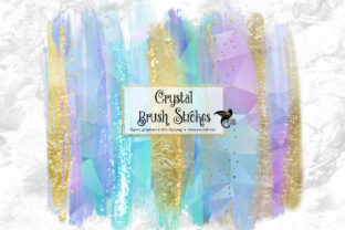 Print on Demand: Crystal Brush Strokes Clipart Graphic Illustrations By Digital Curio