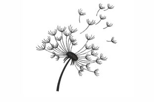 Dandelion Single Flowers & Plants Embroidery Design By LizaEmbroidery