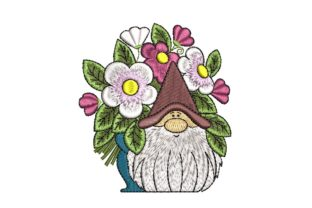 Print on Demand: Gnome Gardener Fairy Tales Embroidery Design By ArtEMByNatali
