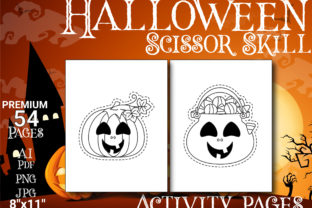 Print on Demand: Halloween Scissor Skills Pages Graphic Coloring Pages & Books Kids By Simran Store