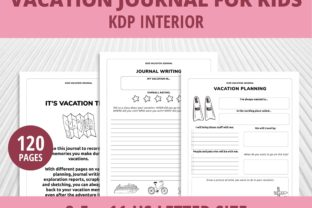 Print on Demand: Kids Vacation Journal for Summer KDP Graphic KDP Interiors By PrintablesCC