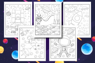 Space Coloring Book for Kids Graphic Coloring Pages & Books Kids By mi632883