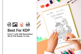Print on Demand: Unicorn Coloring Coloring Book for KDP Graphic Coloring Pages & Books Kids By DigitalMGoods