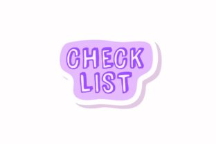 Stickers Note Check List Svg - 1
