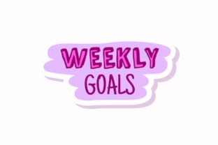 Stickers Note Weekly Goals Svg - 1
