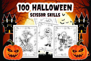 100 Halloween Scissor Activities  Book Graphic Coloring Pages & Books Kids By Alpha Coloring