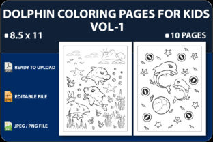 Dolphin Coloring Pages for Kids Vol.1 Graphic Coloring Pages & Books Kids By triggeredit