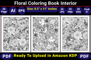 Print on Demand: Floral Coloring Book Pages Graphic Coloring Pages & Books Adults By KDP Coloring Book
