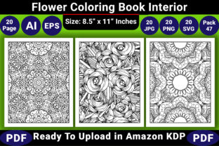 Print on Demand: Flower Coloring Book Pages Graphic Coloring Pages & Books Adults By KDP Coloring Book