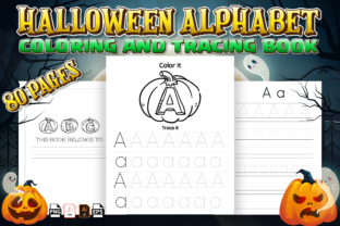 Print on Demand: Halloween Alphabet Tracing Workbook -kdp Graphic KDP Interiors By Kristy Coloring